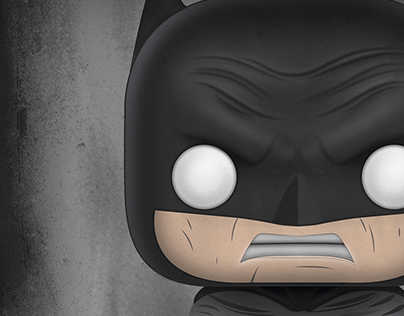 Ilustración Batman Funko Pop