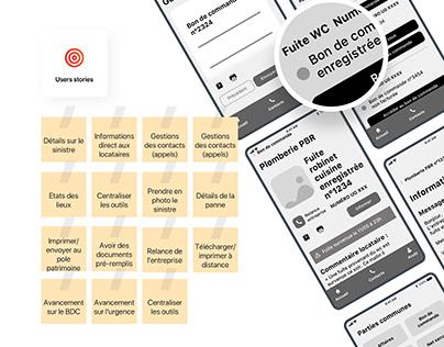 Paris Habitat app- Case study UX