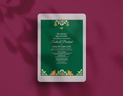 Virtual Wedding Invite
