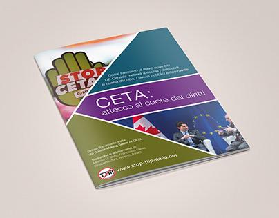 Ideazione grafica ed impaginazione dossier Ceta