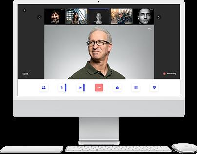 Browser based video conferencing UI design
