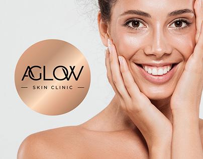 AGLOW SKIN CLINIC logo design