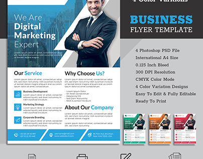 Digital marketing agency flyer template
