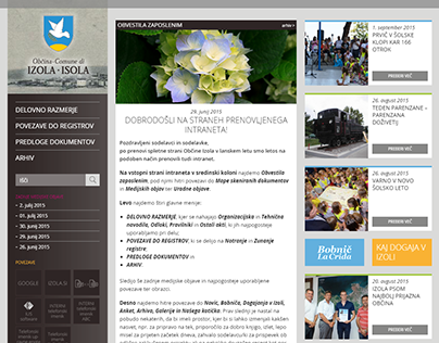 Občina Izola intranet