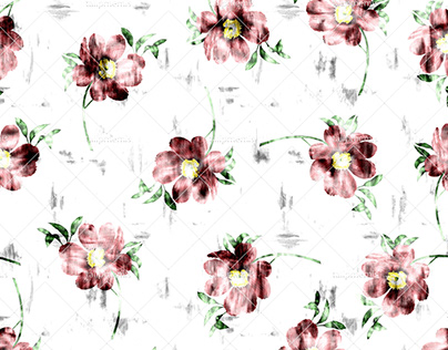 Exotic Flowers - Seamless Pattern
