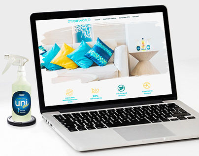 MyBioWorld - website for natural cleaning product