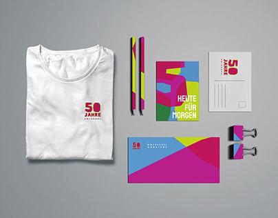 Corporate design for 50th anniversary University Kassel
