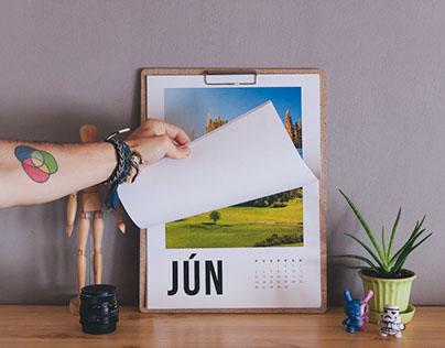 2017 Photo calendar - personal project