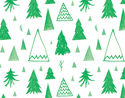 Seamless fir tree pattern