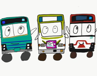 気に入ったバス描いてみた