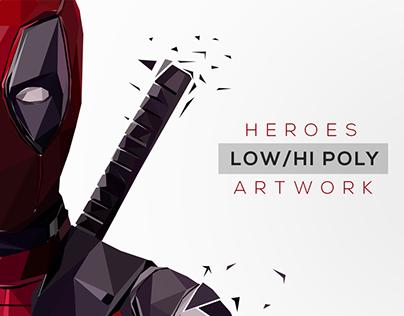 HEROES | Low/Hi Poly Artwork