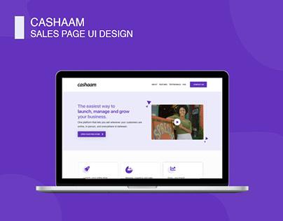 CASHAAM Sales Page Design