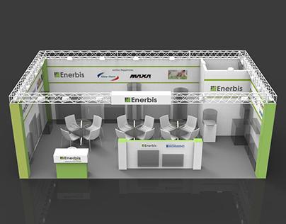 "Exhibition kiosk for ""Enerbis"" company"