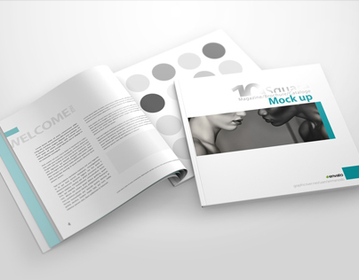Square Catalog / Brochure / Magazine Mock Ups