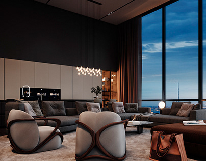 Design of the PentHousein New York By Region Studio