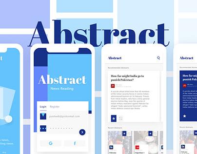 Abstract - News App Design
