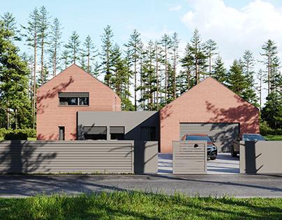 VIZprofistudio Private House - Red and Gray, Poland
