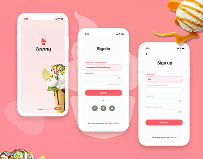 Sign up/ login | Daily UI Challenge 001