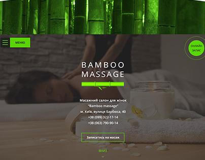 Landing page for massage salon