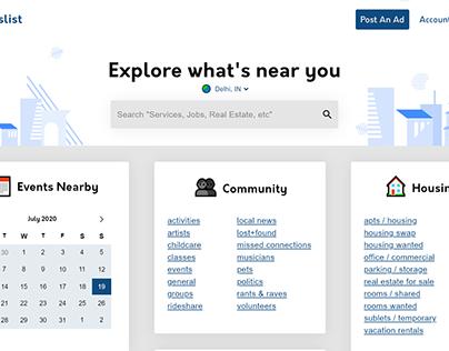 Craigslist Homepage Redesign Case Study