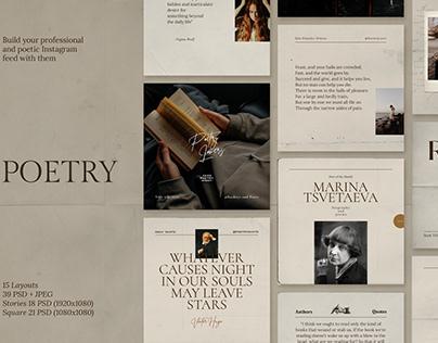 Poetry Social Media Template Pack