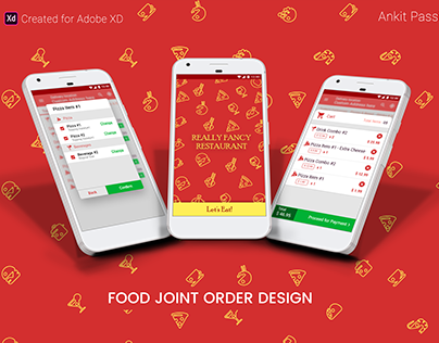 Food Join Order Design: Adobe XD