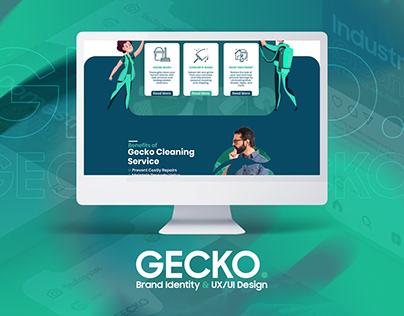 Gecko Brand Identity & UX/UI Design