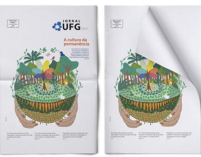 Ilustração Permacultura e outras no Jornal UFG
