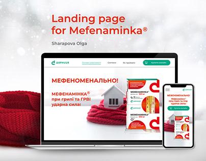 Landing page for Mefenaminka