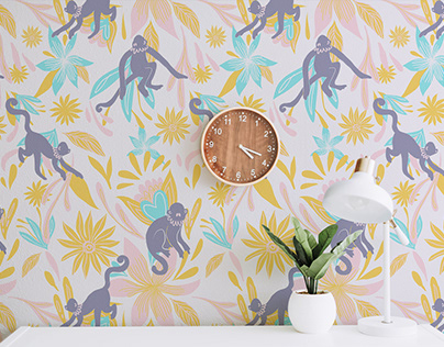Folky Jungle Wallpaper Collection