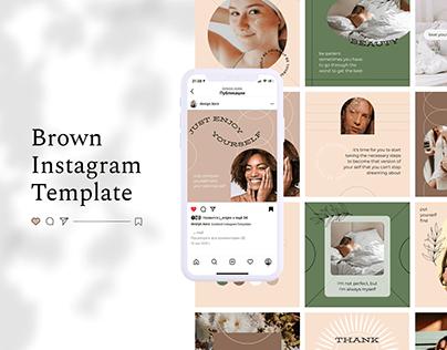 Brown Boho Instagram Templates