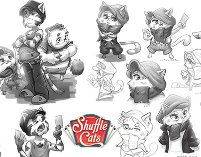 Shuffle Cats - Early Character concepts - King