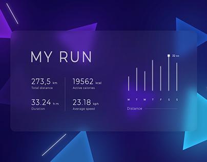 """Web interface """"My run"""""""