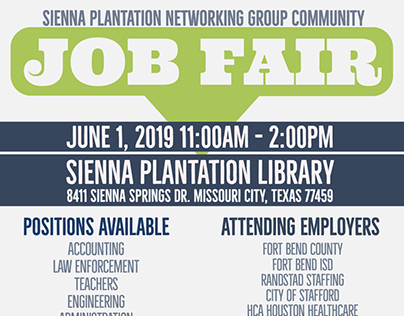 Sienna Plantation Networking Group Social Flyers