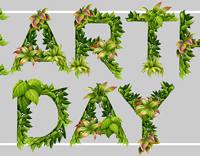 Earth Day Typohgraphy