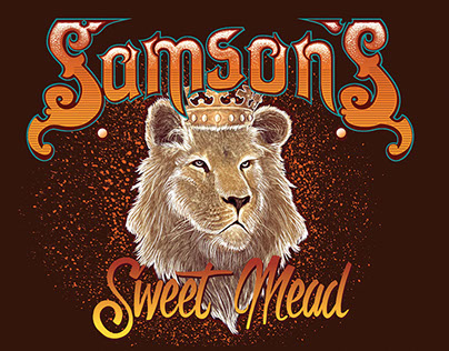 ~Samson's Mead label & Illustration ~