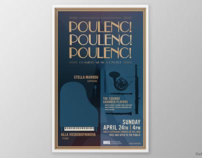 UMSL Poulenc Concert Poster