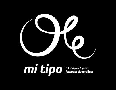 lettering caligráfico Ole mi tipo
