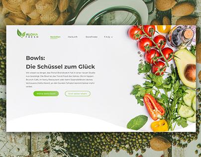 Fresh Webdesign for Food Delivery Service
