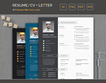 Clean Resume/CV + Cover Letter