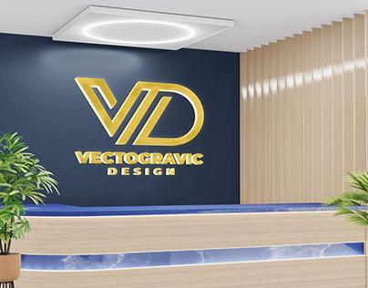 Logo Mockup at Receptionist Room
