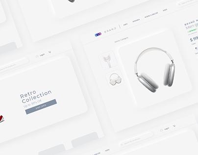 Ecommerce website — Neumorphism