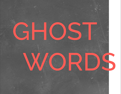 'Ghost Words' Mini Book