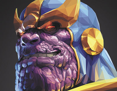 Thanos | Low Poly Portrait
