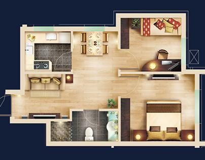 2D Floor Plan - Free PSD blocks Kit