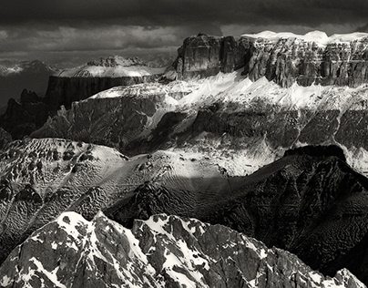 The power of triangles. Dolomites. Platinium print. #2