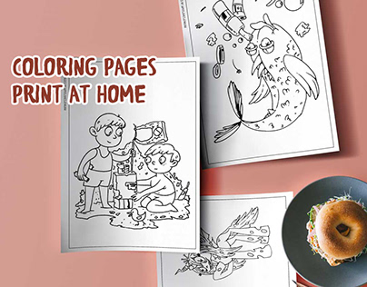 Coloring pages, print at home. Free content