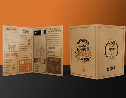 Coffee menu Design size A3 A4