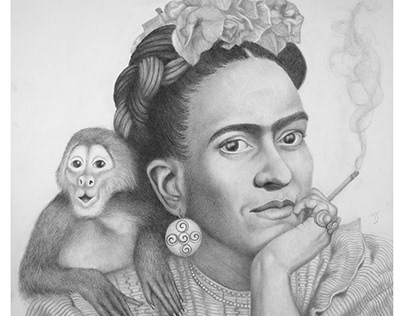Portrait of Artist Frida Kahlo