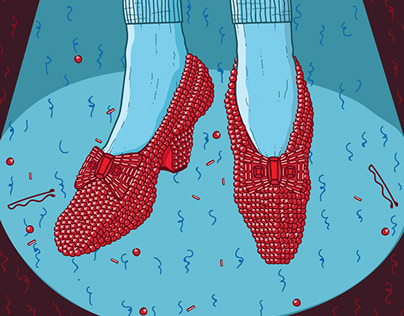 Ruby slippers for The Dancing Queen event